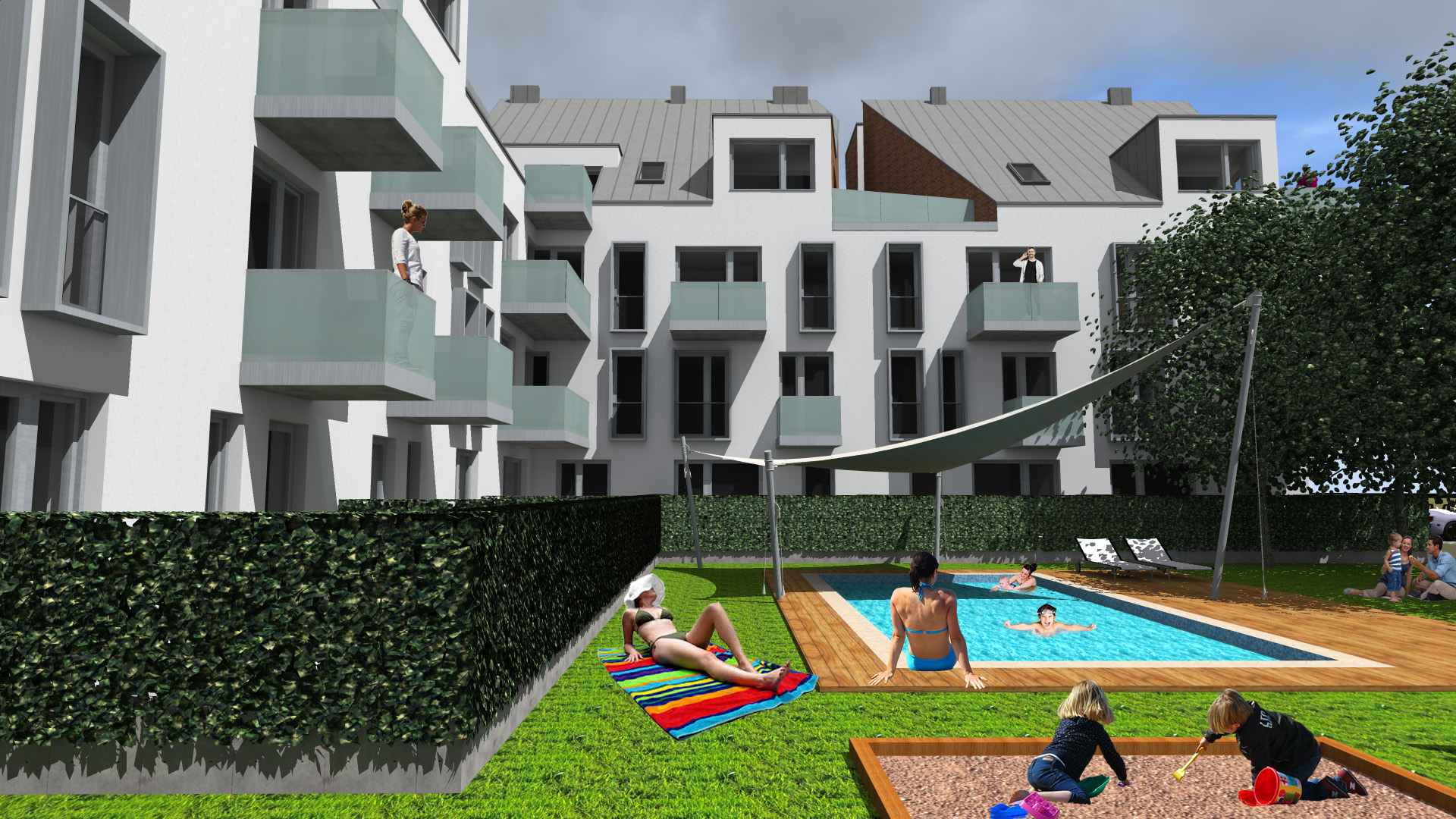 Egy lakópark, tele élményekkel